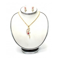 Stylish Diamond Cart Neckless Set